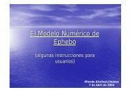 El Modelo Numérico de EPHEBO (algunas instrucciones para ...