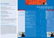 Informatik - studiy - Brandenburgische Technische Universität Cottbus