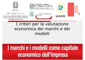 I criteri per la valutazione economica dei marchi e dei modelli