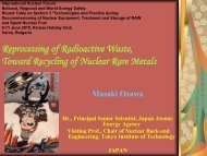 Reprocessing of Radioactive Waste, Toward Recycling of Nuclear ...