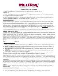 PROFILE -III ER OXYCODONE - Medtox