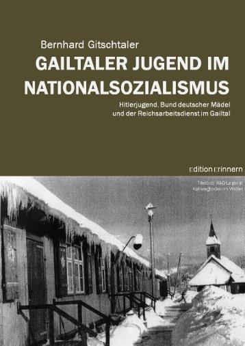Bernhard gitschtaler - gailtaler jugend im nationalsozialismus