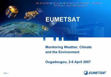 Verschuur EUMETSAT Intro.pdf - UCAR Africa Initiative