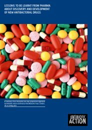 Lessons to be learnt from Pharma about discovery ... - Antibiotic Action