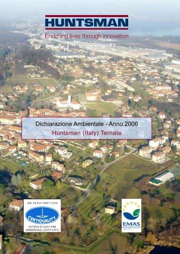 Dichiarazione Ambientale - Anno 2006 Huntsman (Italy) Ternate