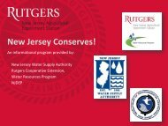 New Jersey Conserves! - Rutgers Cooperative Extension Water ...