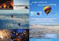 6th International Arctic Balloon Adventure Gällivare Swedish Lapland