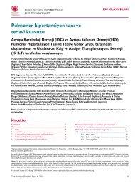 Pulmoner hipertansiyon tanı ve tedavi kılavuzu