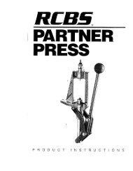 Partner Press Instructions - RCBS