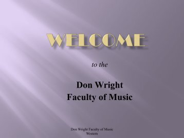 Overview of Undergraduate Music Programs - Don Wright Faculty of ...