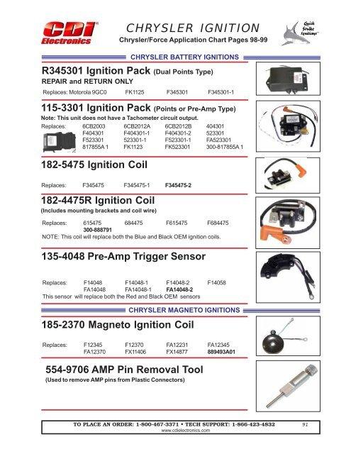 Chrysler Force 3 /& 4 Cylinder Trigger 135-4048