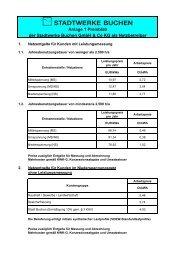 LRV_SWB Anlage 1 Preisblatt Stand 01012007 - Stadtwerke ...