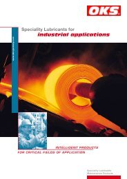 Speciality Lubricants for industrial applications - OKS ...