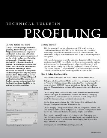 Profiling with Precision Stochastic Screens