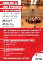 Introduction to Sports Development in your community - Cork Sports ...