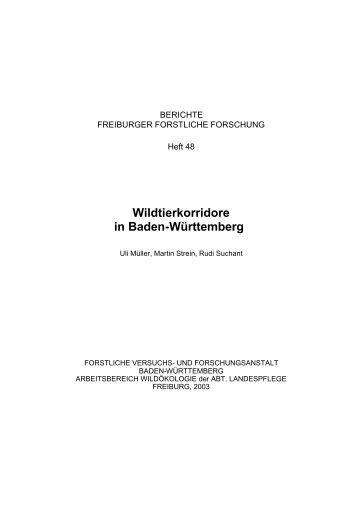 Wildtierkorridore in Baden-Württemberg - Forstliche Versuchs