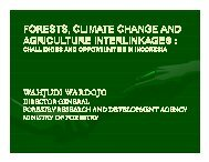 Forests, Climate Change and Agriculture Interlinkages: Challenges ...