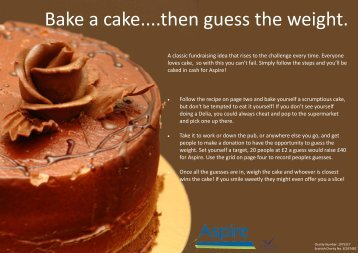 Bake a cake....then guess the weight. - Aspire