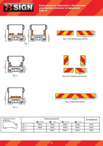 Panel posterior reflectante y fluorescente para camión ... - FM Electro