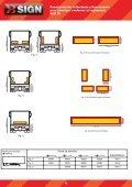 Panel posterior reflectante y fluorescente para camión ... - FM Electro - Page 3