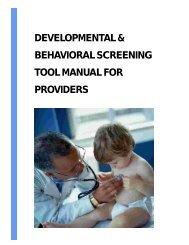 developmental & behavioral screening tool manual ... - UCSF Fresno