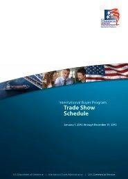 2012 Trade Show Schedule - Export.gov