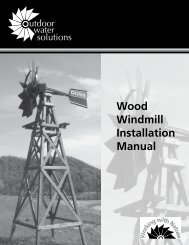 Wood Windmill Installation Manual - Outdoor Water Solutions