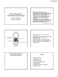 Hautmanifestationen internistischer Erkrankungen - Skinbiology