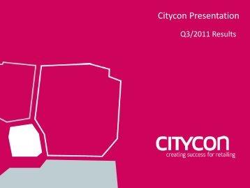 Q3/2011 Investor Presentation (pdf.) - Citycon