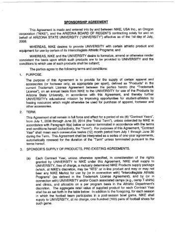 Lanyard $10,000 Sponsorship Agreementsponsorship Agreement. 5 Free