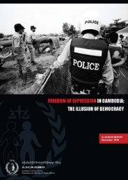 The Illusion of Democracy - 2010 - Licadho