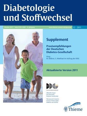 Diabetologie und Stoffwechsel