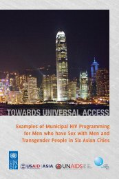 Examples of Municipal HIV Programming - UNDP Asia-Pacific ...