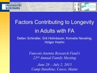 Part 1 - Fanconi Anemia Research Fund