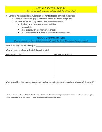 Reporting Form MS Student Achievement Data