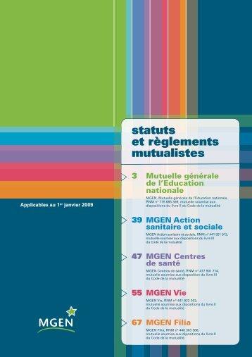 statuts et règlements mutualistes - MGEN
