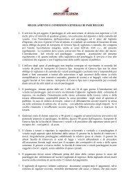 REGOLAMENTO E CONDIZIONI GENERALI DI PARCHEGGIO 1. Il ...