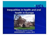 Inequalities in health and oral health in Europe - European ...
