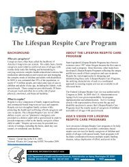 Lifespan Respite Care Program - Administration on Aging