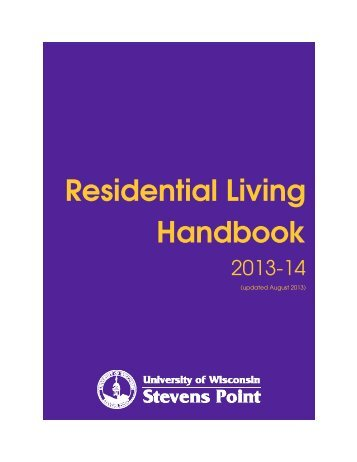 Residential Living Handbook - University of Wisconsin - Stevens Point