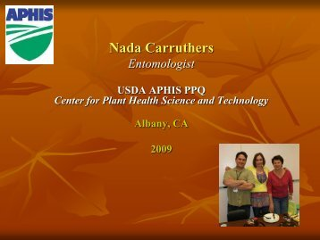 Nada Carruthers - Center for Invasive Plant Management