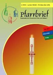 Pfarrbrief 1/2012 - Pfarrei Heilig Blut