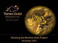 Corporate Presentation - Nov. 2012 - Torex Gold Resources Inc.