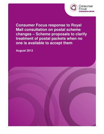 response from Consumer Focus - Royal Mail