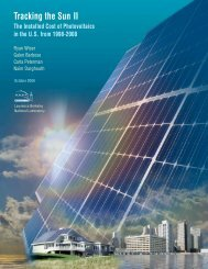 Tracking the Sun II - Electricity Market and Policy - Lawrence ...
