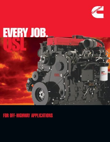 FOR OFF-HIGHWAY APPLICATIONS - Cummins Engines