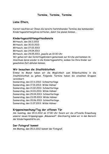 Termine 2013 - Lutherkirche Leer