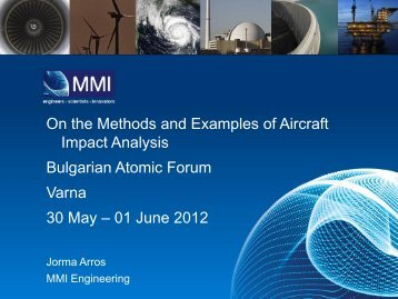On the Methods and Examples of Aircraft Impact Analysis Bulgarian ...