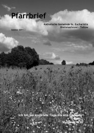Pfarrbrief Sommer 2011 - Katholische Pfarrgemeinde Sanctissima ...