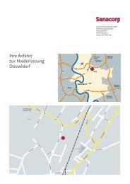 Ihre Anfahrt zur Niederlassung Düsseldorf - Sanacorp